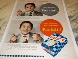 ANCIENNE PUBLICITE LA DIFFERANCE LUSTUCRU 1956 - Affiches