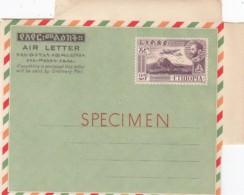 Ethiopia Aerogram Circa 1960 Specimen Perfin Specimen - Etiopía