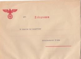 Deutsches Reich Telegram Enveloppe 1940 - Allemagne