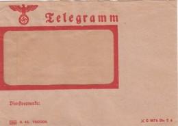Deutsches Reich Telegram Mit Inhalt Mit Werbung 1940 - Allemagne