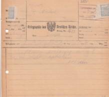 Deutsches Reich Telegramm Mit Werbung 1923 - Used Stamps