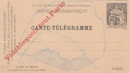 France Carte-Telegramm Circa 1890 - Unclassified