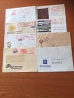 +++ Sammlung Bund 8 Briefe Und Postkarten Rotfrankerung Und Werbung +++ - Stamps
