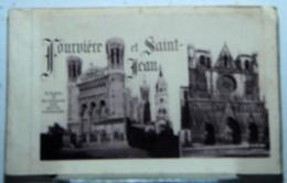 LYON FOURVIÈRE ET ST-JEAN  15 VUES  FORMAT CARTE POSTAL NOIRE ET BLANC - Dépliants Touristiques