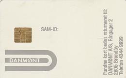 Denmark, Danmont Test Card, PSAM_ID:, V.24, 2 Scans.  RARE Issued For Miele. - Denmark