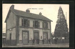 Ducey, La Gare,  Carte Rare - Ducey