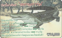 S-Korea Phonecard  Aligator Krokodil - Krokodile Und Alligatoren