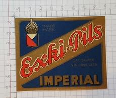 ETIQUETTE  BRASSERIE IMPERIAL BRUXELLES EXKI -PILS -1 - Beer