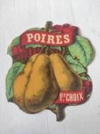 Magnifique étiquette Ancienne - Alcool Apéritif - Poires 1er Choix - Depres - Vernis - - Other