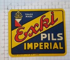 ETIQUETTE  BRASSERIE IMPERIAL BRUXELLES EXKI -PILS -2 - Beer