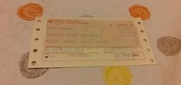 BIGLIETTO TRENO DA ROMA TERMINI A LAMEZIA TERME CENTRALE 1989 - Trenes