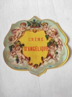Magnifique étiquette Ancienne - Alcool Apéritif - Crème D'angélique - Depres - Vernis - - Other