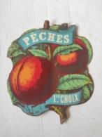 Magnifique étiquette Ancienne - Alcool Apéritif - Pêches 1er Choix - Depres - Vernis - - Other