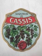Magnifique étiquette Ancienne - Alcool Apéritif - Liqueur De Cassis - Depres - Vernis - NEUF - Other