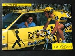 Manuel Saiz + Erik Breukink - ONCE - 1993 - Carte / Card - Cyclists - Cyclisme - Ciclismo -wielrennen - Wielrennen