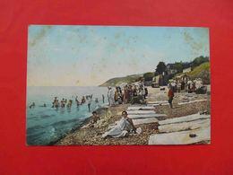 Yalta 1910-th Doctor Lapidus Beach, Swimming, Children, Child. Russian Postcard - Ukraine
