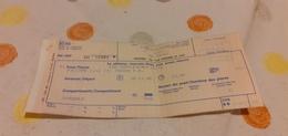 BIGLIETTO TRENO SUPPLEMENTO  LETTO AGENZIA VIAGGI RUGGIERI DA PALERMO CENTRALE A TORINO PORTA NUOVA 1988 - Railway