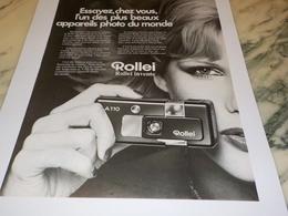 ANCIENNE PUBLICITE APPAREIL PHOTO ROLLEI 1977 - Fotografia