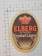 ETIQUETTE  BRASSERIE DE KOEKELBERG ELBERG CRYSTAL LAGER - Beer