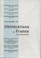 Oblitérations De France Sur Timbres Détachés D'Armand Mathieu, 1994,  TB - France