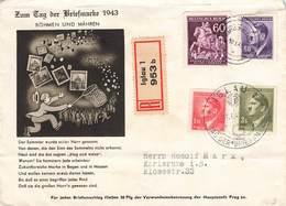 DR Brief Böhmen Und Mähren Mif. Reco Einschreiben Iglau + SST. - Abstimmungsgebiete