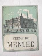 Magnifique étiquette Ancienne - Alcool Apéritif - Crème De Menthe - Vernis -  NEUF - Other