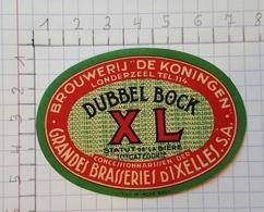 ETIQUETTE  BRASSERIE D' IXELLES DUBBEL BOCK XL - Beer