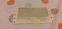 BIGLIETTO TRENO DA TORINO PORTA NUOVA A BOLOGNA CENTRALE 1988 - Railway