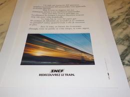 ANCIENNE PUBLICITE REDECOUVREZ LE TRAIN  SNCF 1978 - Ferrocarril