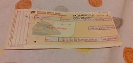 BIGLIETTO TRENO DA ROMA TERMINI A PIACENZA 1989 - Trenes