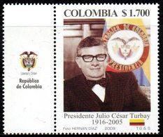 A544B-KOLUMBIEN - MNH - 2009 - PRESIDENT JULIO CESAR TURBAY AYALA - Colombie