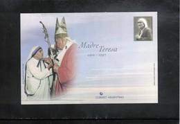 Argentina Mother Teresa Postal Stationery Postcard - Mother Teresa