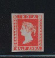 ***REPLICA*** Of 1854 India 1/2a Vermillion, SG 1 - India (...-1947)