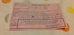 BIGLIETTO TRENO BOLLETTINO SUPPLEMENTO LETTO DA PALERMO A TRIESTE 1982 - Railway