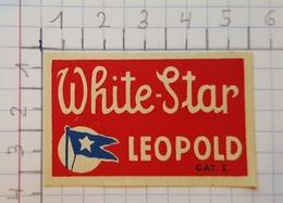 ETIQUETTE  BRASSERIE LEOPOLD BRUXELLES WHITE - STAR - Beer