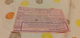 BIGLIETTO TRENO BOLLETTINO SUPPLEMENTO LETTO DA TRIESTE  A PALERMO 19821982 - Trenes