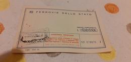 BIGLIETTO TRENO AGENZIA VIAGGI RUGGIERI DA TRIESTE CENTRALE A PALERMO CENTRALE 1982 - Railway