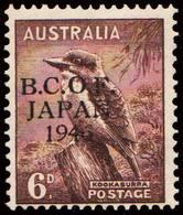 Scott M4   6d Kookaburra Overprinted British Commonwealth Occupation Of Japan Overprinted B.C.O.F. Japan 1946. Unu... - Japon (BCOF)