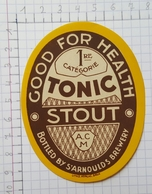 ETIQUETTE  BRASSERIE CAIGNET  MOMIGNIES TONIC STOUT - Beer