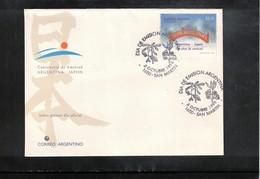 Argentina 1998 Joint Issue Argentina + Japan Friendship Argentina - Japan FDC - Gemeinschaftsausgaben