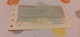 BIGLIETTO TRENO DA PALERMO CENTRALE A CAPO D'ORLANDO- NASO 1982 - Railway