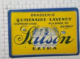 ETIQUETTE  BRASSERIE QUISENAIRE - LAVENDY SAISON EXTRA - Beer
