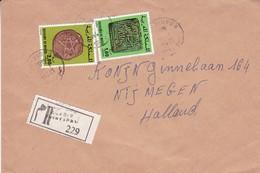 ROYAUME DU MAROC ENVELOPPE CIRCULEE DE AGADIR A NIJMEGEN, PAYS BAS ANNEE 1989 RECOMMANDE -LILHU - Morocco (1956-...)