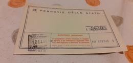 BIGLIETTO TRENO AGENZIA VIAGGI RUGGIERI DA TAORMINA A PADOVA 1982 - Railway