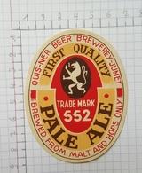 ETIQUETTE  BRASSERIE QUISENAIRE - LAVENDY PALE ALE 552 - Beer