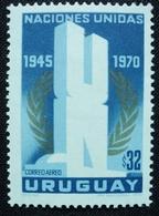 1970 URUGUAY Mnh AIR MAIL Yvert A366  - 25 Years ONU United Nations - Naciones Unidas - Uruguay