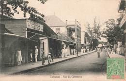 Madagascar Tamatave Rue Du Commerce + Timbre Madagascar Et Dependances - Madagascar