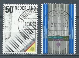 Pays-Bas YT N°1244/1245 Europa 1985 Année Européenne De La Musique Oblitéré ° - Europa-CEPT