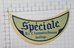 ETIQUETTE  BRASSERIE AXENSALVA - FENIAUX HAUTRAGE SPECIALE - Beer