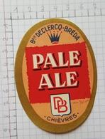 ETIQUETTE  BRASSERIE DECLERCQ - BREDA CHIEVRES PALE ALE - Beer